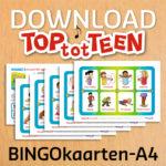 bingo kaarten op A4-formaat